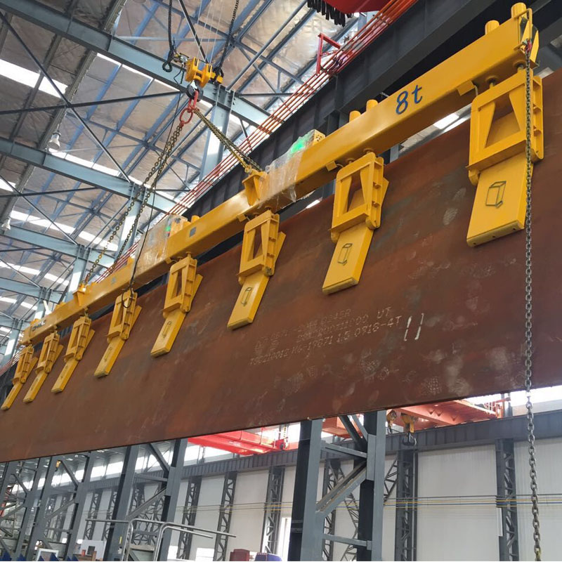 QHMAG 8 ton industrial magnets for steel side plate lifting electromagnet