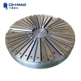 Circle round magnetic table,Electric Magnetic holding bed for lathe machine